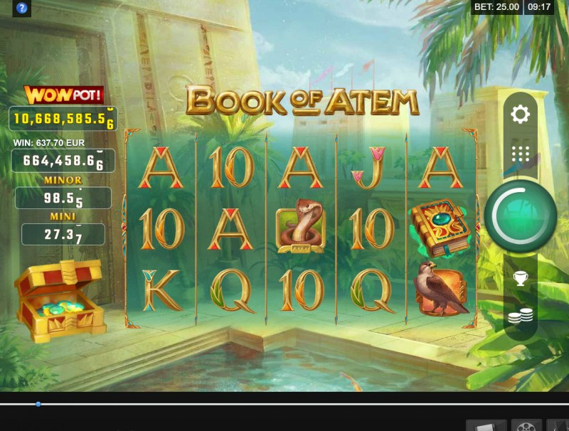 Book of Atem Wow Pot :: Main Game Board