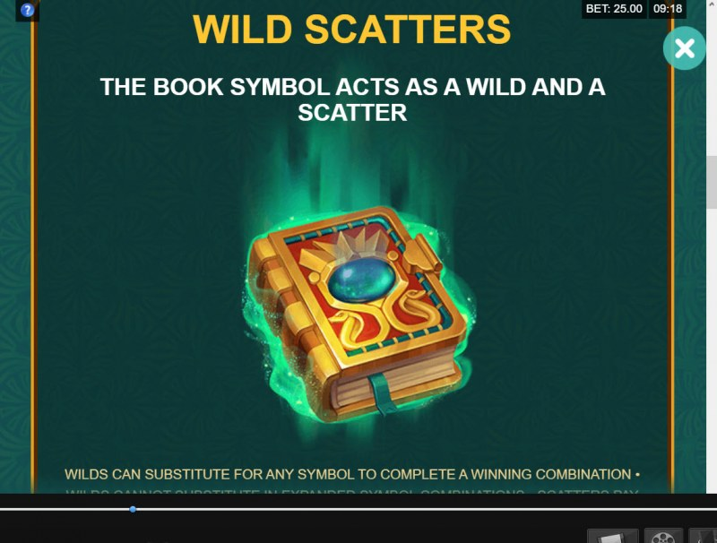 Book of Atem Wow Pot :: Wild and Scatter Rules