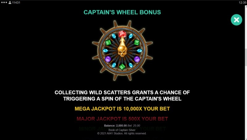 Book of Captain Silver :: Captain's Wheel Bonus