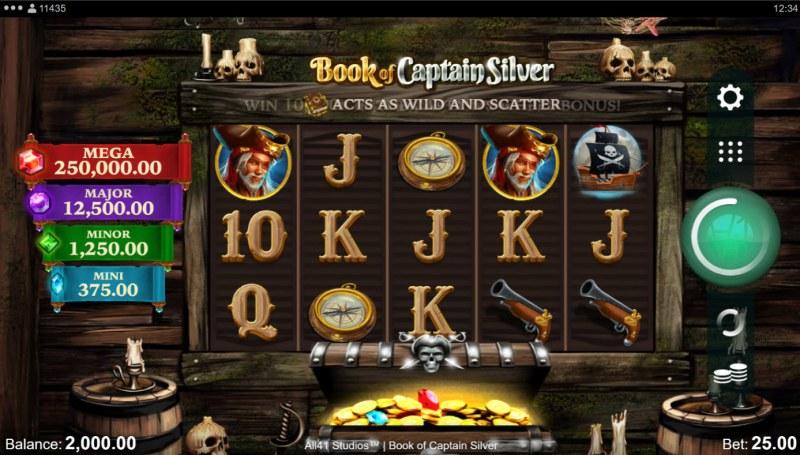 Book of Captain Silver :: Base Game Screen