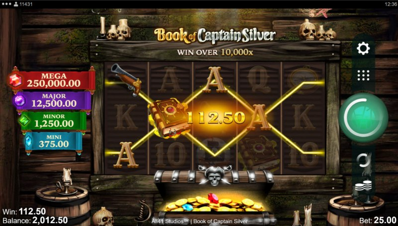 Book of Captain Silver :: A four of a kind win
