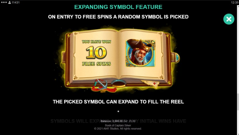 Book of Captain Silver :: Special Expanding Symbol