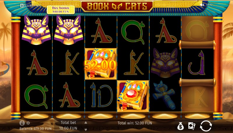 Book of Cats :: A four of a kind win
