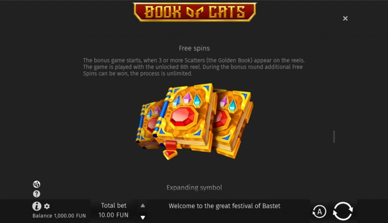 Book of Cats :: Free Spin Feature Rules
