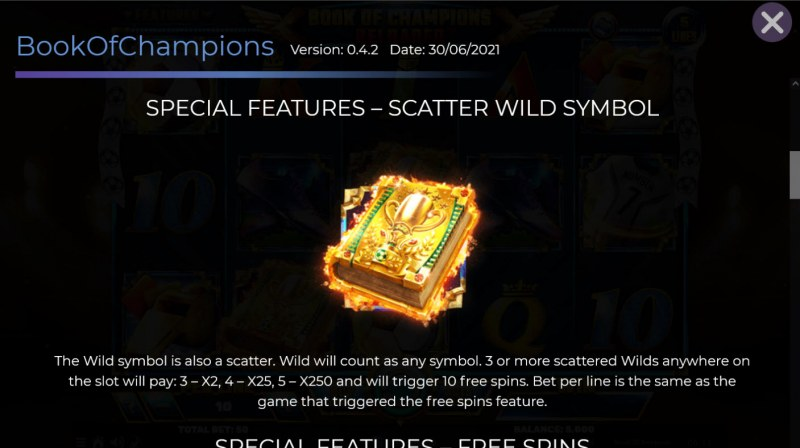 Book of Champions Reloaded :: Wild and Scatter Rules