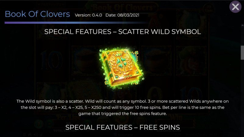 Book of Clovers :: Wild and Scatter Rules