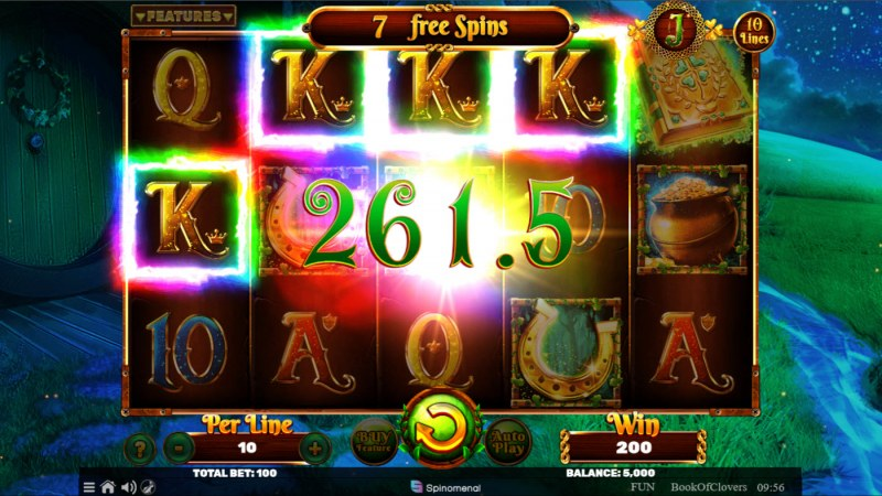 Book of Clovers :: Free Spins Game Board