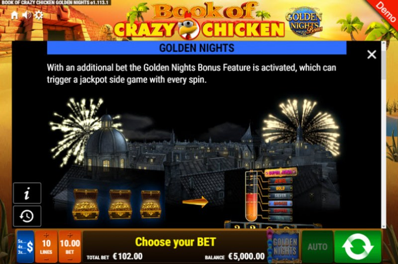 Book of Crazy Chicken Golden Nights Bonus :: Golden Nights Bonus