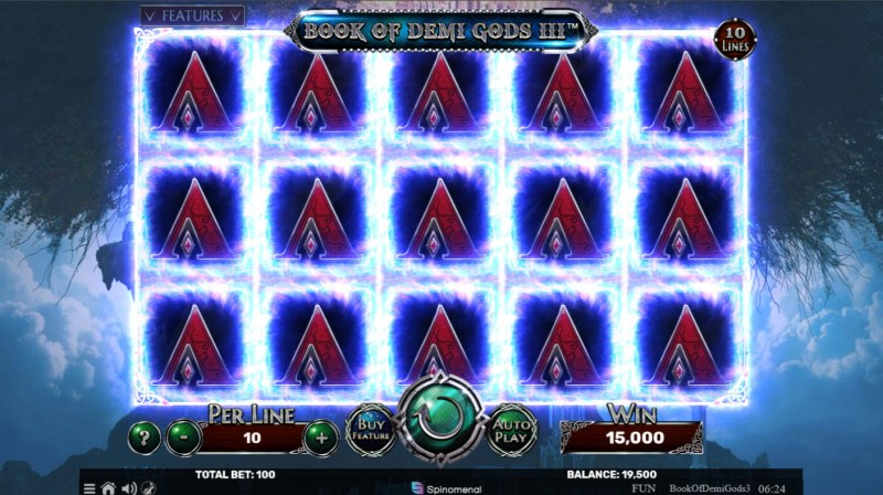 Book of Demi Gods 3 :: Multiple winning paylines