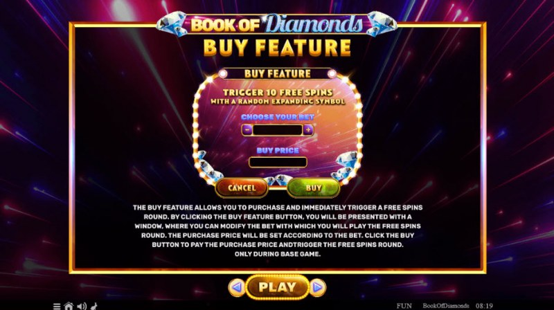 Book of Diamonds :: Buy Feature