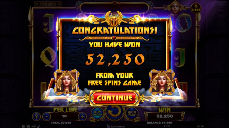 Book of the Divine Reloaded :: Total Free Spins Payout