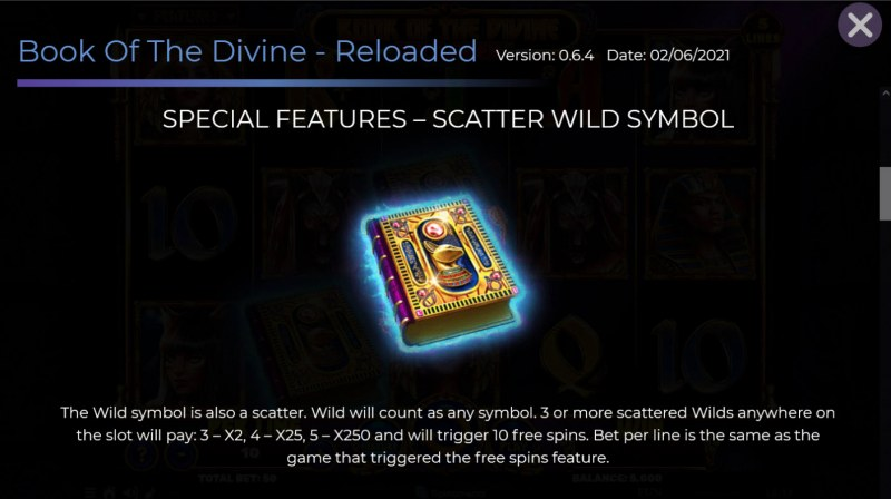 Book of the Divine Reloaded :: Wild and Scatter Rules