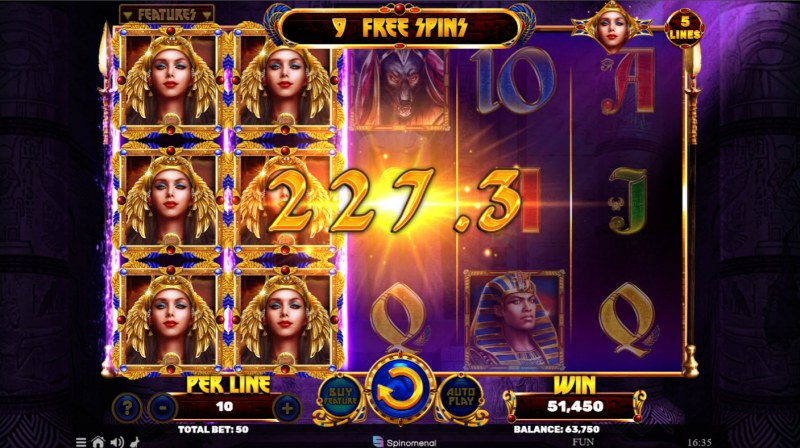 Book of the Divine Reloaded :: Free Spins Game Board