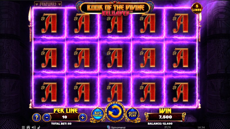 Book of the Divine Reloaded :: Multiple winning paylines