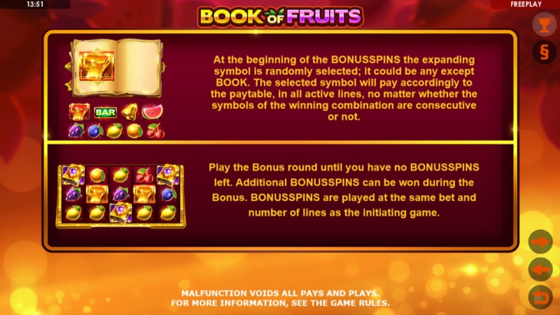 Book of Fruits :: Feature Rules