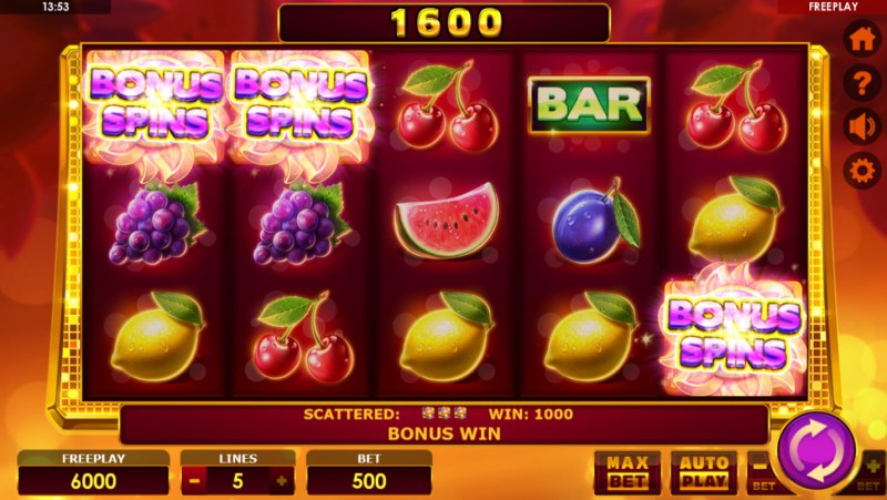 Book of Fruits :: Scatter symbols triggers the free spins feature