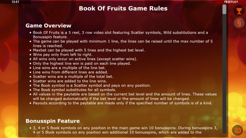 Book of Fruits :: General Game Rules