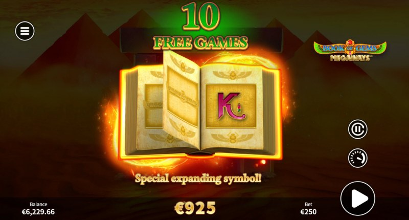 Book of Gems Megaways :: Special Expanding Symbol