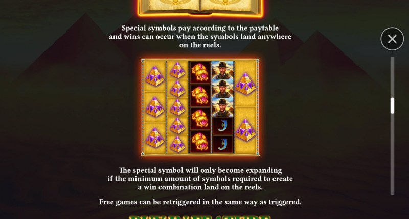 Book of Gems Megaways :: Feature Rules