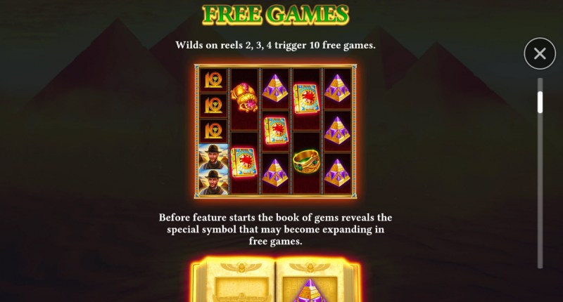 Book of Gems Megaways :: Free Spin Feature Rules