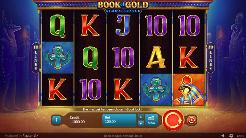 Book of Gold Symbol of Choice :: Main Game Board