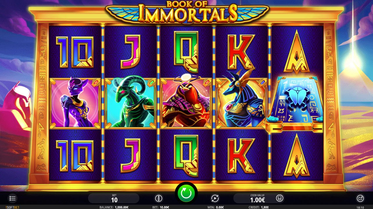 Play slots at Wild Jackpots: Wild Jackpots featuring the Video Slots Book of Immortals with a maximum payout of $1,500