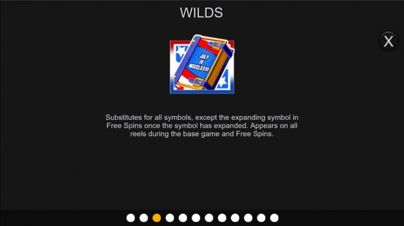 Book of Independence :: Wild Symbol Rules
