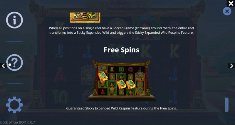 Book of Itza :: Free Spin Feature Rules