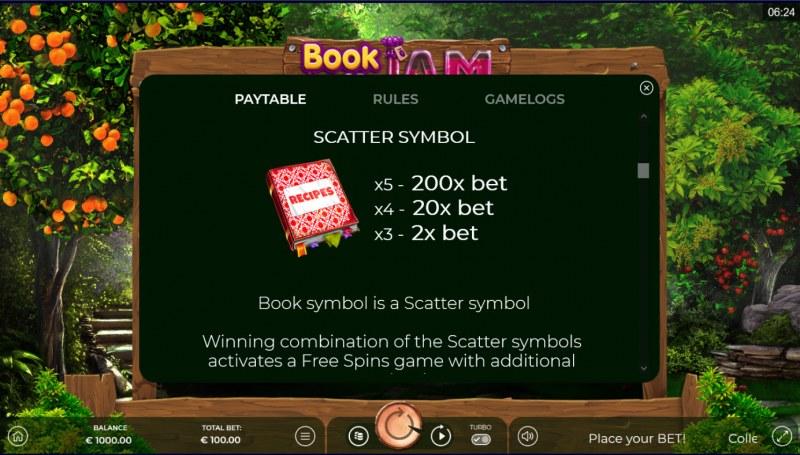Book of Jam :: Scatter Symbol Rules