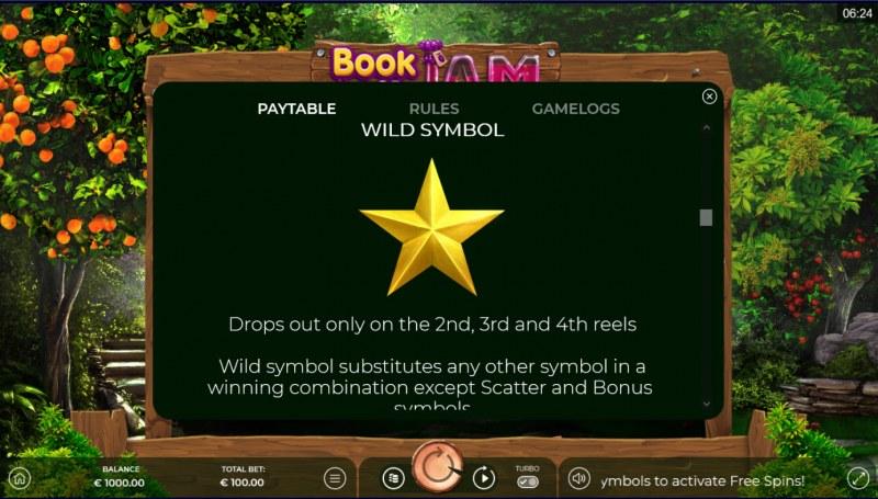 Book of Jam :: Wild Symbol Rules
