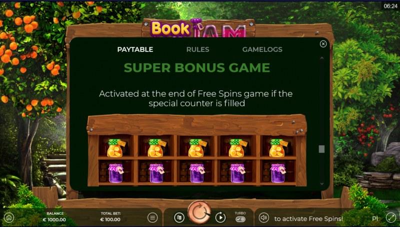 Book of Jam :: Super Bonus Game