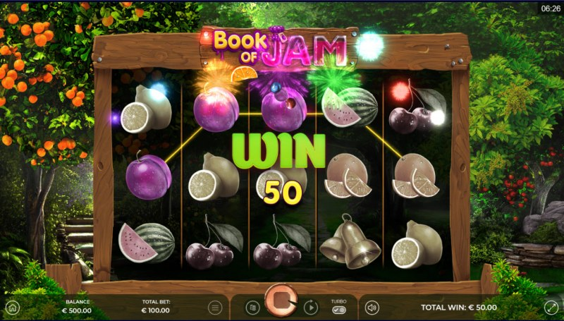 Book of Jam :: A three of a kind win