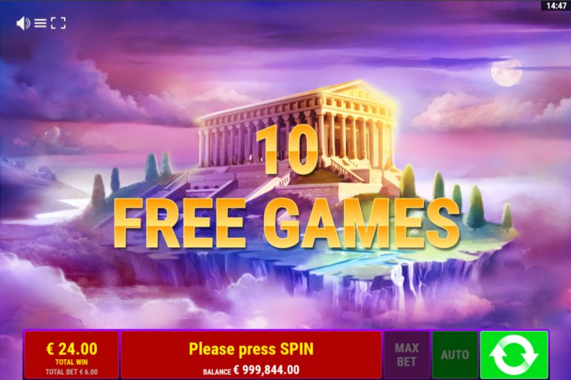 Book of Juno :: 10 free spins awarded