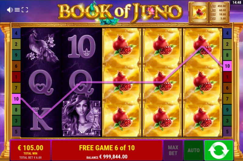 Book of Juno :: Big Win