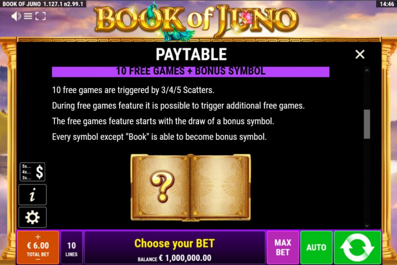 Book of Juno :: Free Spin Feature Rules