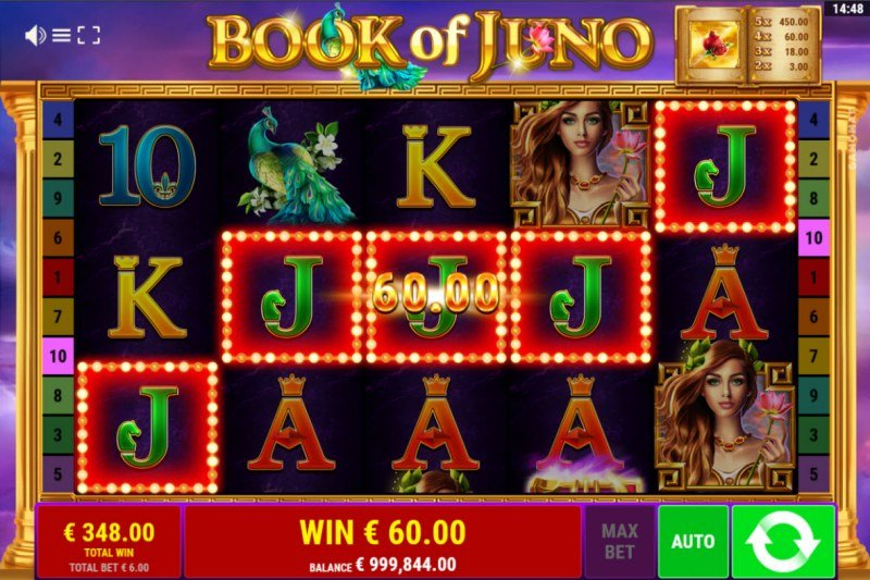 Book of Juno :: A five of a kind win
