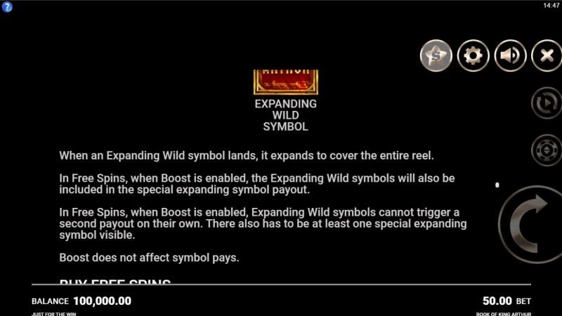 Book of King Arthur :: Wild Symbol Rules