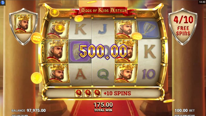 Book of King Arthur :: Multiple winning combinations