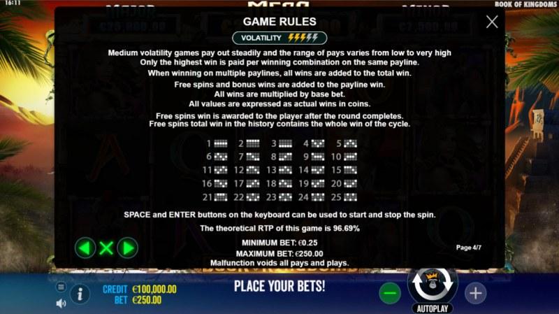 Book of Kingdoms :: General Game Rules