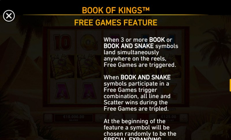 Book of Kings :: Free Spin Feature Rules