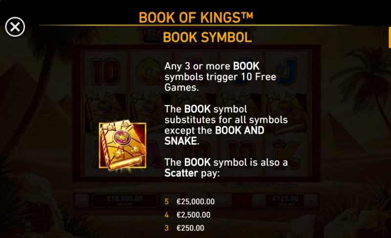 Book of Kings :: Wild and Scatter Rules