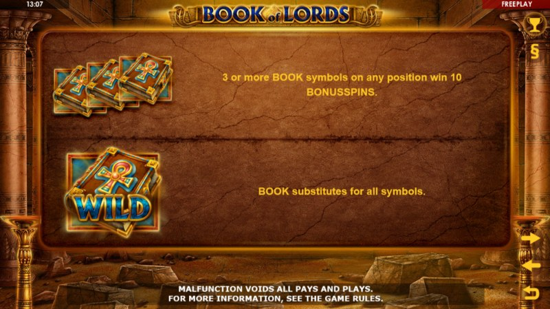 Book of Lords :: Wild Symbols Rules