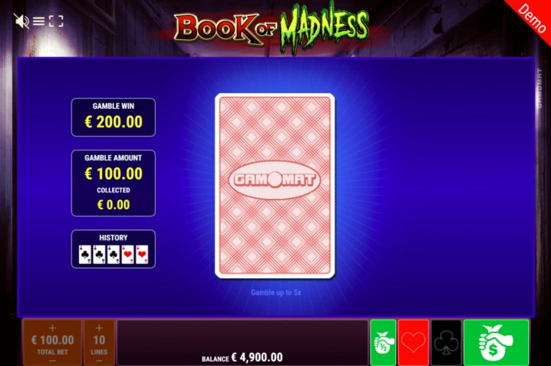 Book of Madness :: Black or Red Gamble Feature