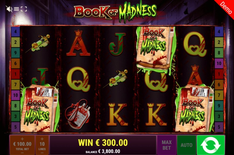 Book of Madness :: Scatter symbols triggers the free spins feature