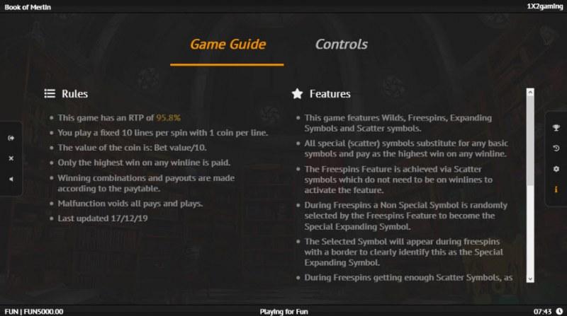 Book of Merlin :: General Game Rules