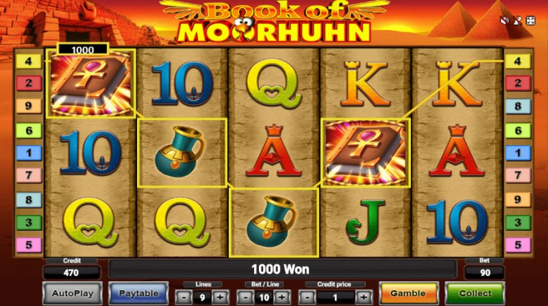 Book of Moorhuhn :: A four of a kind Win