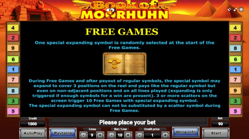 Book of Moorhuhn :: Free Spins Rules