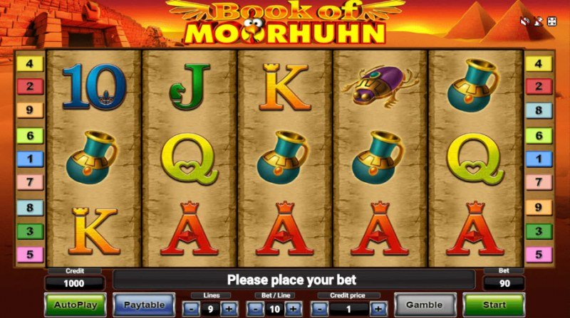 Book of Moorhuhn :: Main Game Board