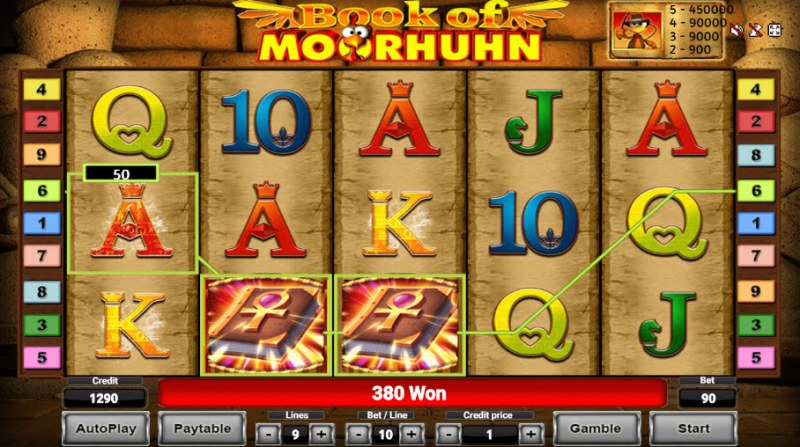 Book of Moorhuhn :: Free Spins Game Board