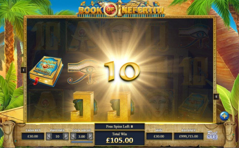 Book of Nefertiti :: Free Spins Game Board